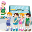 Kids at the Canteen - Stock Photo