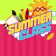 Summer Class Design — Stock Photo