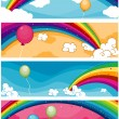 Rainbow Banners — Stock Photo