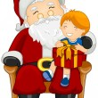 Santa and Child — Foto Stock