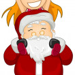 Santa and a Child — Stock Photo