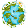 Green Globe — Stock Photo