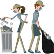 Waste Collector — Stock Photo