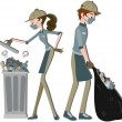 Stock Photo: Waste Collector