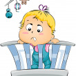 Baby on Crib — Stock Photo