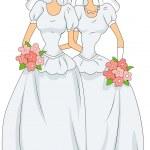 Lesbian Marriage — Stock Photo