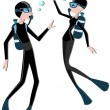 Scuba Divers — Stock Photo