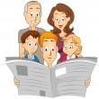 Stock Photo: Family Newspaper