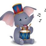 Elephant Drummer — Stock Photo