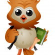 Stock Photo: Owl Student