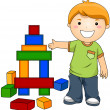 Boy with Toy Blocks — Stock Photo #7734950