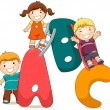 abc kids — Stock Photo