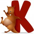 K for Kangaroo — Stock Photo