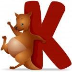 K for Kangaroo — Stock Photo