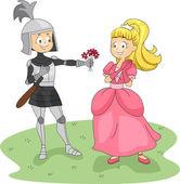 Knight and Princess — Stock Photo