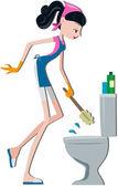 便器の洗浄 — ストック写真