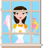 Pencere temizleme — Stok fotoğraf
