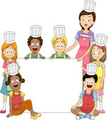 Cooking Club Banner — Stock Photo