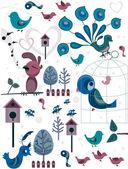 Bird Doodles — Stock Photo
