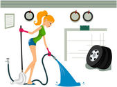 Cleaning Garage — Stock Photo