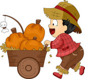Pumpkin Cart — Stock Photo