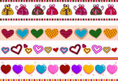 Love and Hearts Border — Stock Photo