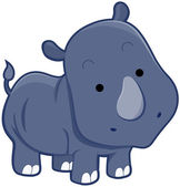 Cute Rhinocerus — Stock Photo