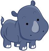 Cute Rhinocerus — Stock Photo