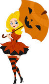 Pinup Girl Pumpkin — Stockfoto