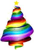 Rainbow Ribbon Tree — Stock Photo
