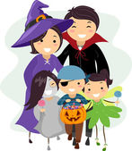 Halloween Family — Stock Photo