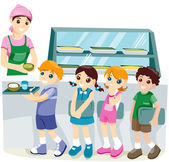 Kids at the Canteen — Stock Photo