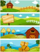 Boerderij banners — Stockfoto