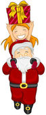 Santa and a Child — Stock Photo