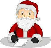 Santa making List — Stock Photo