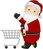 Santa einkaufen — Stockfoto