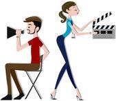 Film makers — Stock Photo