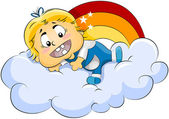 Baby on Clouds — Stock Photo