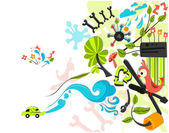 Friendly Green Car Design — Stockfoto