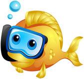 Fish Snorkeling — Stock Photo