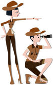 Forest Rangers — Stock Photo