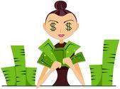 Contando dinheiro — Foto Stock