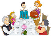 Family Thanksgiving — Stockfoto