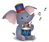 Elephant Drummer — Stock Photo
