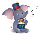 Sloní bubeník — Stock fotografie