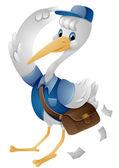 Stork Mailman — Stock Photo