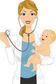 Baby Checkup — Stock Photo