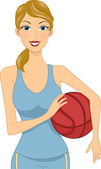Basketball Girl — Stock Photo