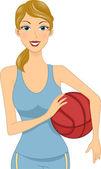 Basketball Girl — Stock Photo