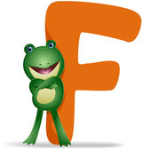 F for Frog — Stock Photo
